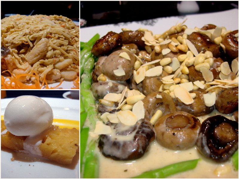 The carbs, the dessert & the funghi