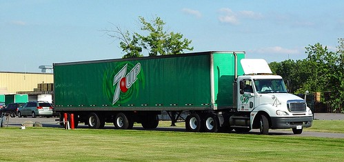 7 UP Semi Truck Brooks Bottling Co