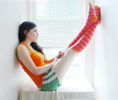 076.365 ~ .I am what I am, and I ain't what I ain't. (just.K) Tags: pink light vacation orange feet me window up socks wall myself happy legs bright content sit highkey yeartwo hellyes fgr 365days happyk futab 076365 justk