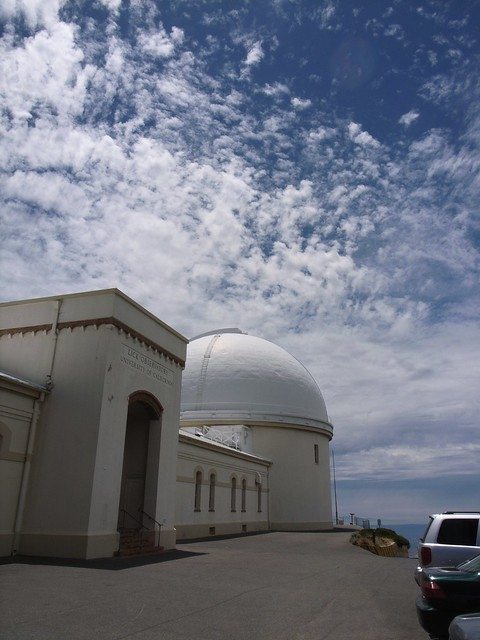 Lick Observatory at the top of Mount Hamilton
