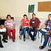 Interesados en las diversas opiniones - iz a der -Fortina García y Estela Ruelas, Daniela Jiménez y Alfonso Álvarez, Jesús Toscano y Nadia Ceballos