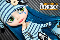 My new custom blythe : Imprison (elissachris) Tags: ooak blythe nightmare imprison rbl elissascustomblythe