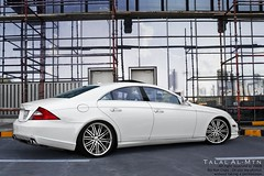Mercedes Benz CLS (Talal Al-Mtn) Tags: 2005 street blue red sky white weather yellow clouds canon eos rebel benz great gray engine tire class full mercedesbenz motor kuwait 55 rims marshal mb 2009 v8 talal amg 2007 xsi cls q8 v12 tuned kwt clsclass 450d mercedesbenzcls opiton talalalmtn  mercedeccls