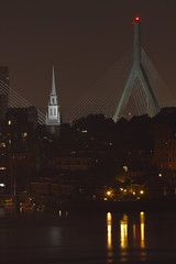 Old North Church (Harris Clayton) Tags: new old city bridge usa art church water boston night contrast america river dark photography lights photo dock warf nightscape clayton images northamerica harris inspiring oldnorthchurch modernvsnew harrisclayton