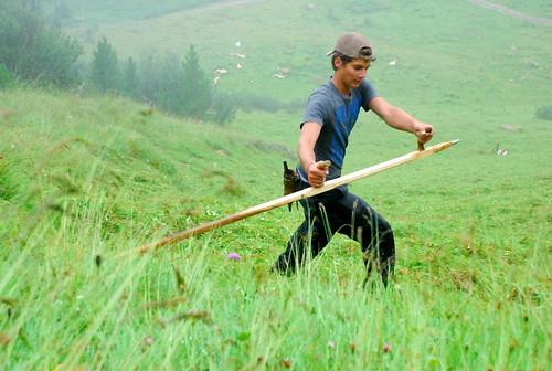 Landwirt in den Nockbergen