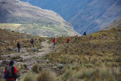 Hiking in the Cordellia Blanca Range in Peru