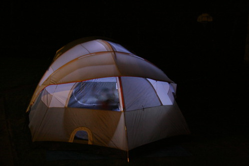 Tent at night