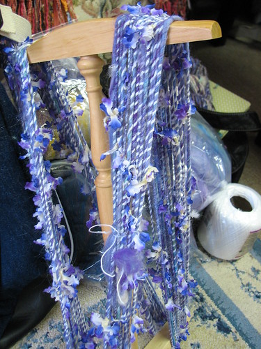 a friend spun this with flowers