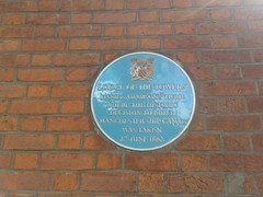 Photo of Daniel Adamson and Manchester Ship Canal blue plaque