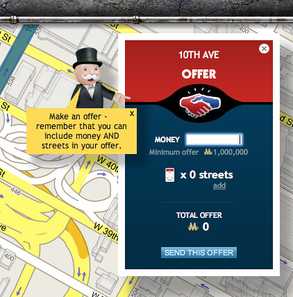 Google Monopoly City Streets