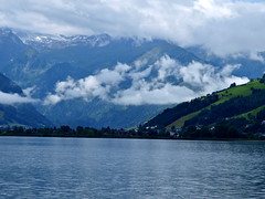 Zeller See and mountains (lreed76) Tags: mountains alps clouds austria zellersee