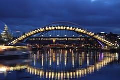 (Legolam) Tags: longexposure reflections river newcastle boat baltic sage tyne millenniumbridge tynebridge swingbridge quayside canonefs1785mmf456isusm