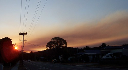 Bushfire to the West of Woy Woy, 11th August 2009