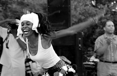 the joy of it (Barbara.K) Tags: blackandwhite bw woman beauty dance energy candid joy dcist tamron18200mm eos500d canonrebelt1i wakilimcneill malcolmxdrummersanddancers 31stadamsmorgandayfestival