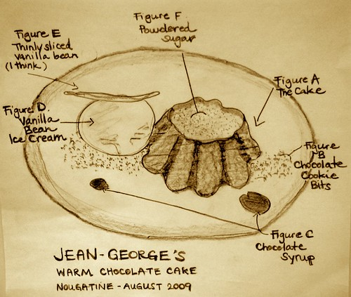 Molten Chocolate Cake Drawing