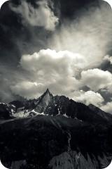 (~Liliana) Tags: bw france alps clouds glacier chamonix
