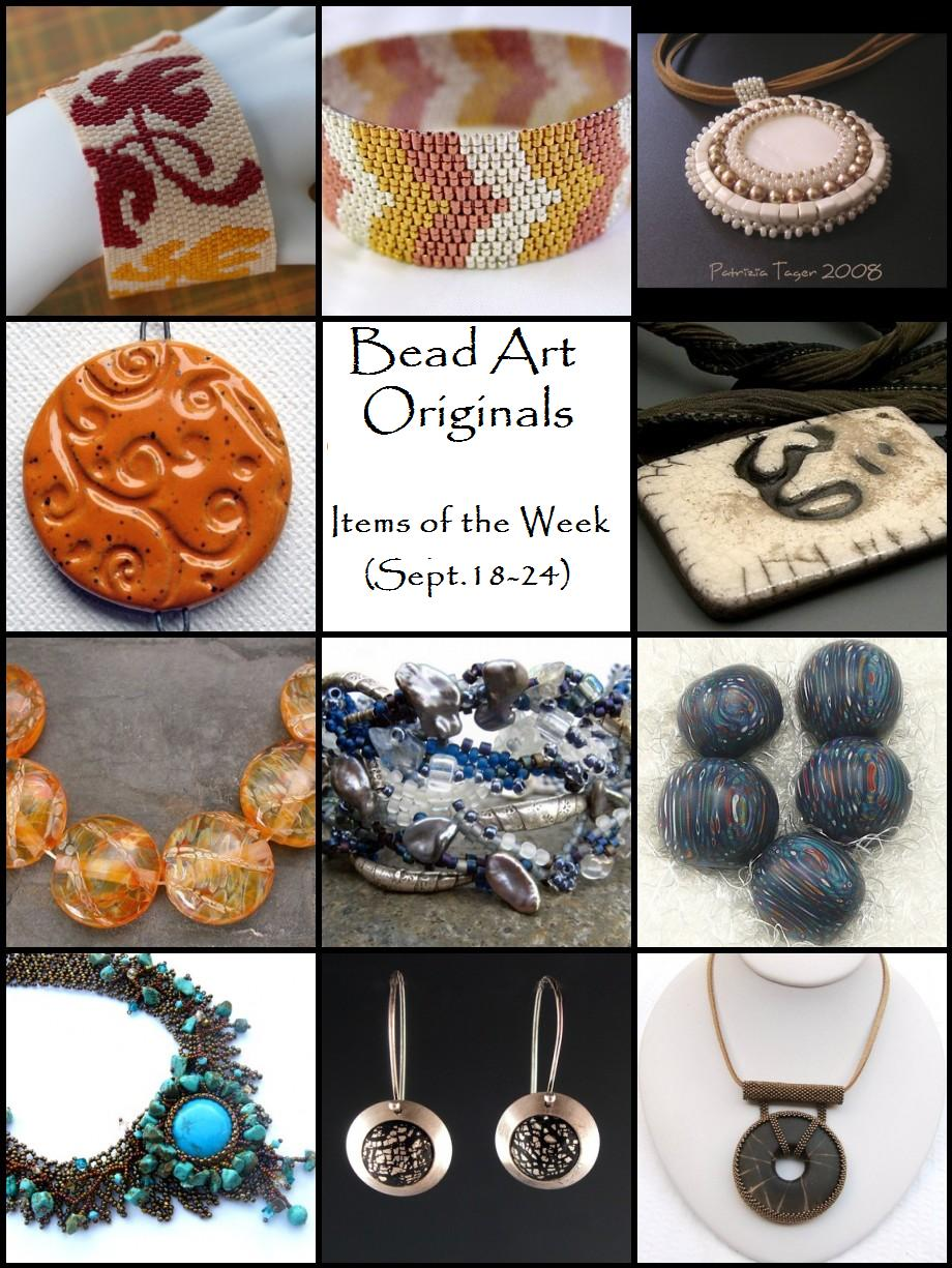 Bead Art Originals Items of the Week (Sep 18-24)