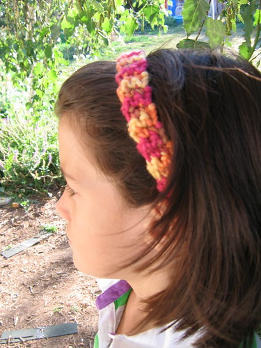 Simple crochet headband