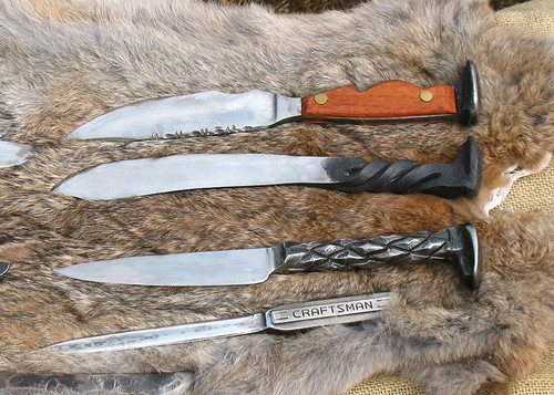 blacksmith spike knives