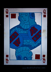 Queen of...Squares? (John Garfield-Roberts) Tags: manchester northernquarter grafitti queen playingcard