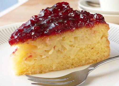 Birnen-Preiselbeer-Kuchen