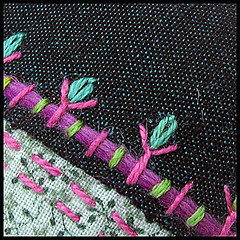 Embroidery details (Birthine) Tags: embroidery details button knap crazypatchwork detaljer broderi