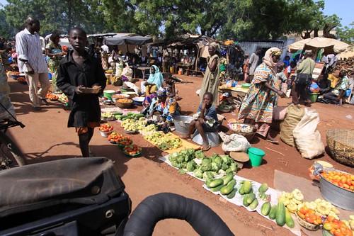 Market in Mali village.