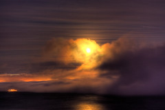 City in the Fog (Bryan Nabong) Tags: california moon fog night bay san francisco hdr 3xp 3exp