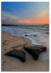 Two (Nora Carol) Tags: sunset beach waves patterns textures slowshutter therock sabah malaysianphotographer northborneo abigfave nikond90 noracarol kotakinabalusunset sabahanphotographer landscapephotographerfromsabah womanlandscapephotographer womaninphotography