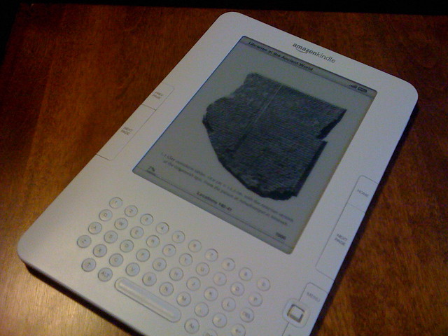 Cuneiform tablet on Kindle
