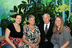 Nicole,Danielle, and their Grandparents (rocco11510) Tags: new york ny canon is shadows anniversary poughkeepsie valley hudson f28 1755mm 40d