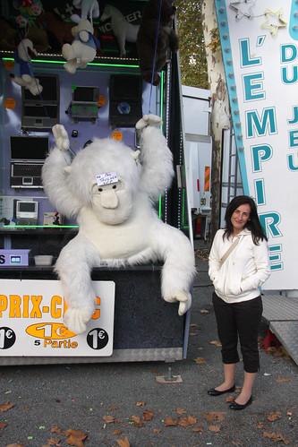 Marga wants a white gorilla