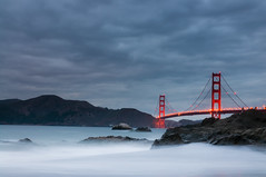 Dream up a Storm (kaoni701) Tags: sf sanfrancisco bridge autumn storm beach rain japan night clouds marina lights bay gg sand nikon baker traffic dusk marin goldengate bayarea 1750 bluehour tamron bakerbeach vc dusky presidio tropicalstorm d300s