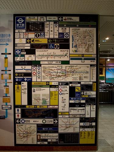 地下鉄博物館のサイン一覧