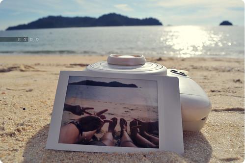 Camera with Polaroid
