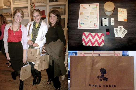 Rubie Green Gift Bags Featuring Smock
