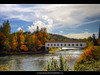 Covered Bridge over McKenzie River in the Fall (David Gn Photography) Tags: autumn fall oregon landscape scenic coveredbridge hdr mckenzieriver mckenziepass highway126 platinumheartaward sigma1020mmf35exdchsm platinumpeaceaward canoneosrebelt1i