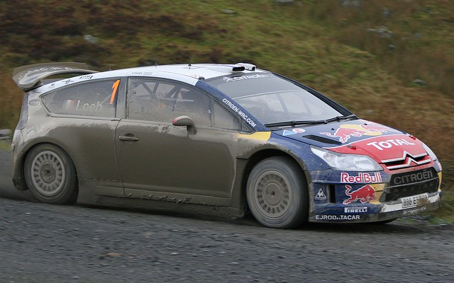 Sebastian Loeb - Citroen C4 WRC on Wales Rally GB 2009