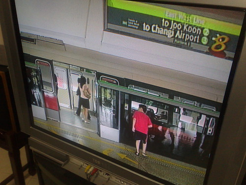 DPM at opening ceremony for new Half-doors at MRT stations