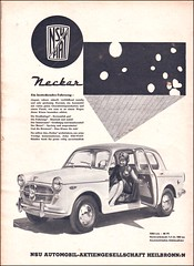 NSU-Fiat Neckar, Magazine Ad / Anzeige, AMS 1958 (Georg Sander (GS1311)) Tags: auto old classic car sport vintage magazine ads newspaper und fiat antique alt ad scan advertisement advert 1958 oldtimer motor werbung magazin ams 103 reklame neckar zeitung 1100 nsu 1103 1101 anzeige 1102 alte altes zeitschrift inserat zeitungsanzeige nsufiat gerald1311 zeitschriftenanzeite zeitschriftenanzeige