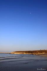 day moon (irina_rosca) Tags: blue sea moon beach romania blacksea constantza