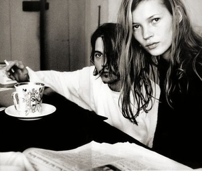 kate moss johnny depp photoshoot. Johnny Depp + Kate Moss