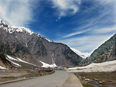 Naran's Sky (Tanwir Jogi) Tags: road city pakistan sky snow water trekking trek river hiking backpacking kaghan naran saifulmaluk kunhar concordian tanwir trekkerz