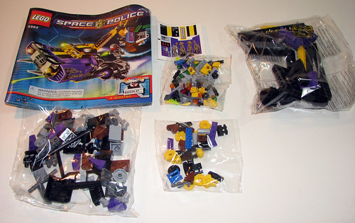 LEGO Space Police 2010 5982 Smash 'n' Grab - Manual, stickers, parts bags