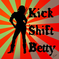Kick Shift Betty CD cover (faith goble) Tags: music woman art girl silhouette artist photographer boots kentucky ky album cd cover poet strong writer rays bowlinggreen adobeillustrator faithgoble patrickgoble gographix kickshiftbetty faithgobleart