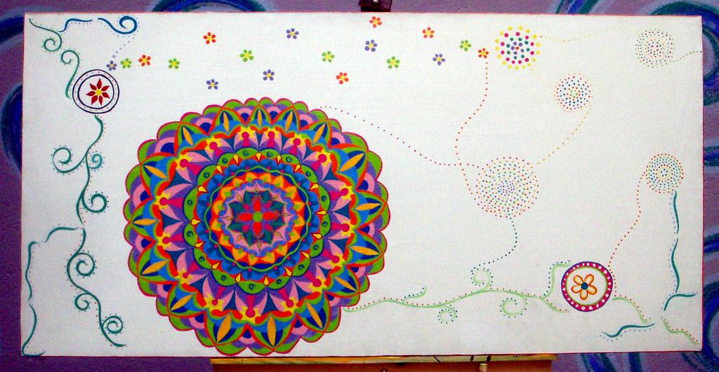 Pintura em Tela - Mandalas