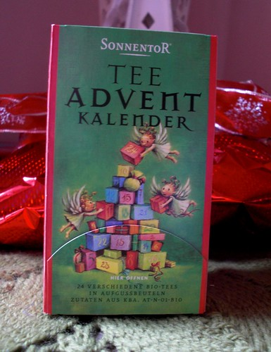 Advent calendar tea, gift from my sister