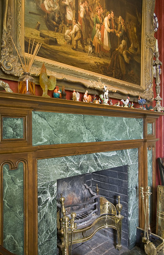 Fireplace in study