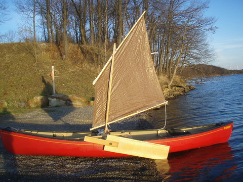 Drop in sailing rig for a canoe or kayak