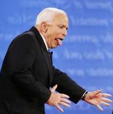 McCain in distress